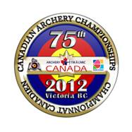 Logo for the 75th Canadian Archery Championships, 2012, Victoria BC