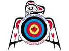 Victoria Bowmen Logo, featuring a target shield in front of a stylized First Nations thunderbird