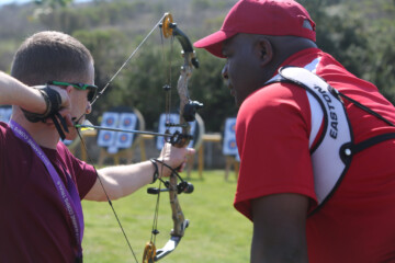archery practice during the Marine Corps Trials aboard Camp Pendleton, Calif., March 5, 2014.